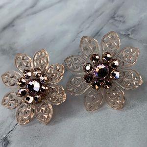 Tarina Tarantino Filigree Flower Earrings